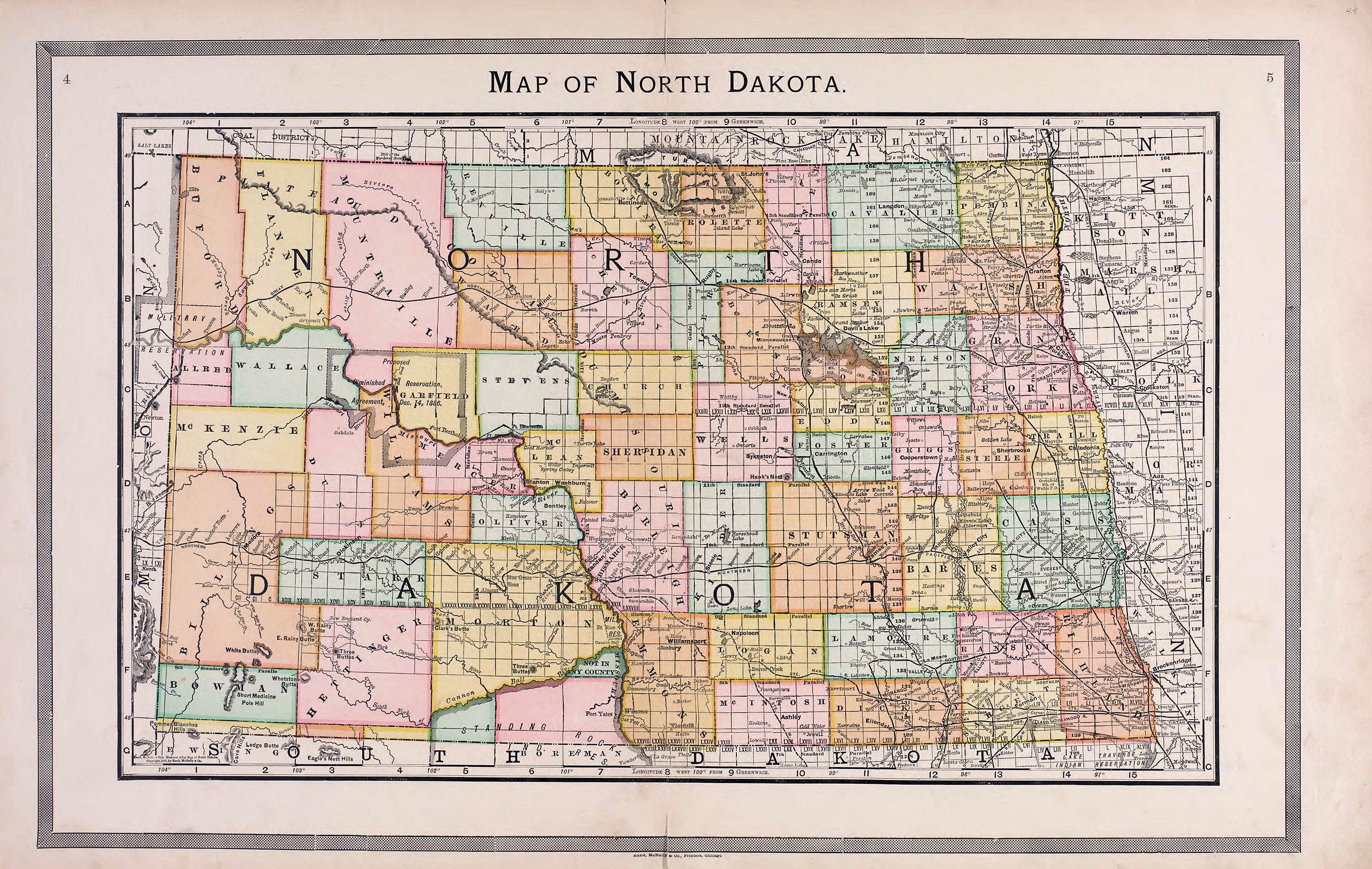 USGenWeb Archives Digital Maps Project North Dakota - North dakota maps