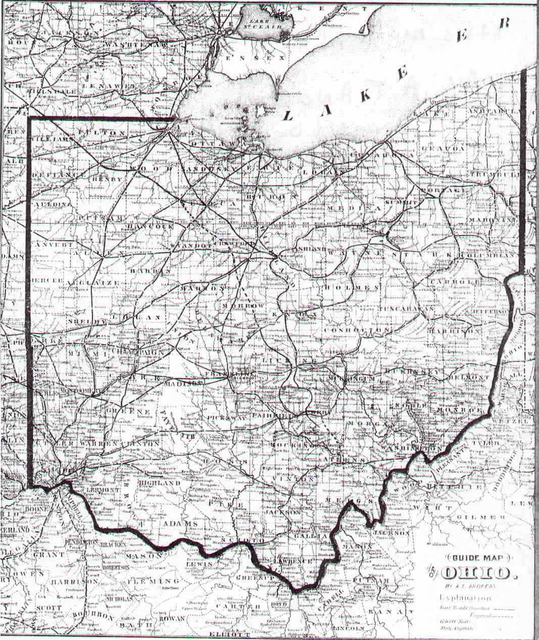 The USGenWeb Archives Digital Map Library Ohio State Maps - Map ohio