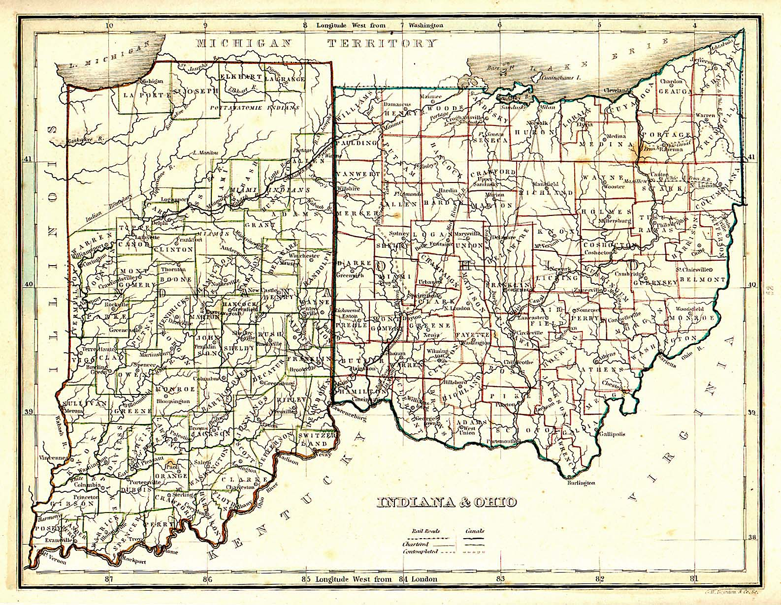 The USGenWeb Archives Digital Map Library Ohio State Maps - County maps of ohio