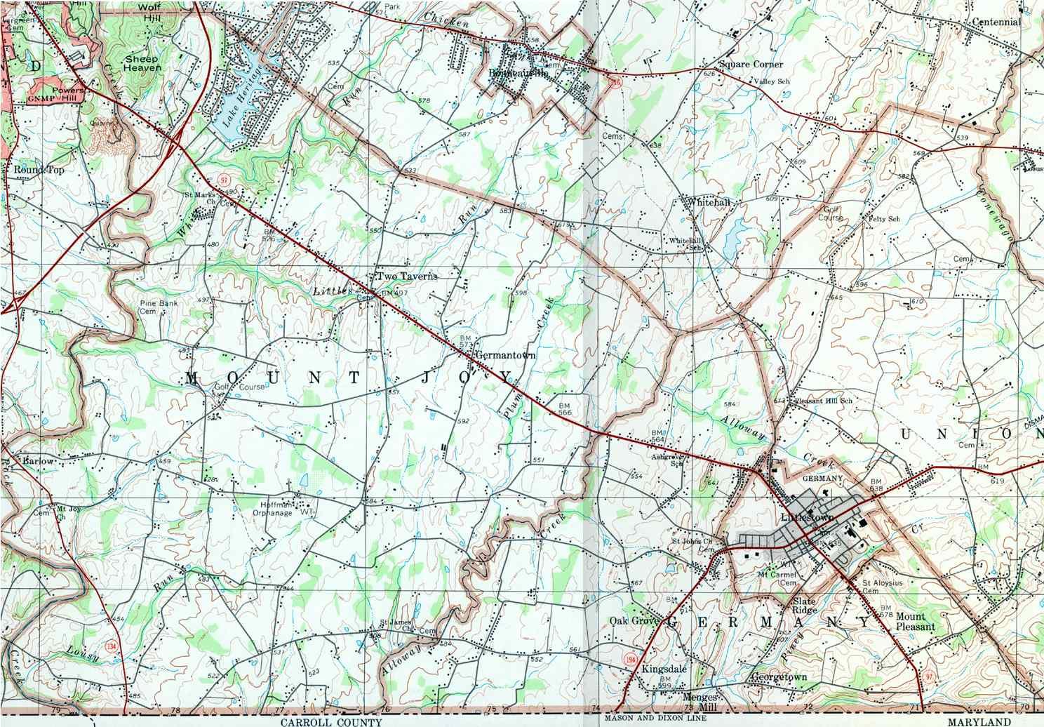 Adams County Pennsylvania Township Maps