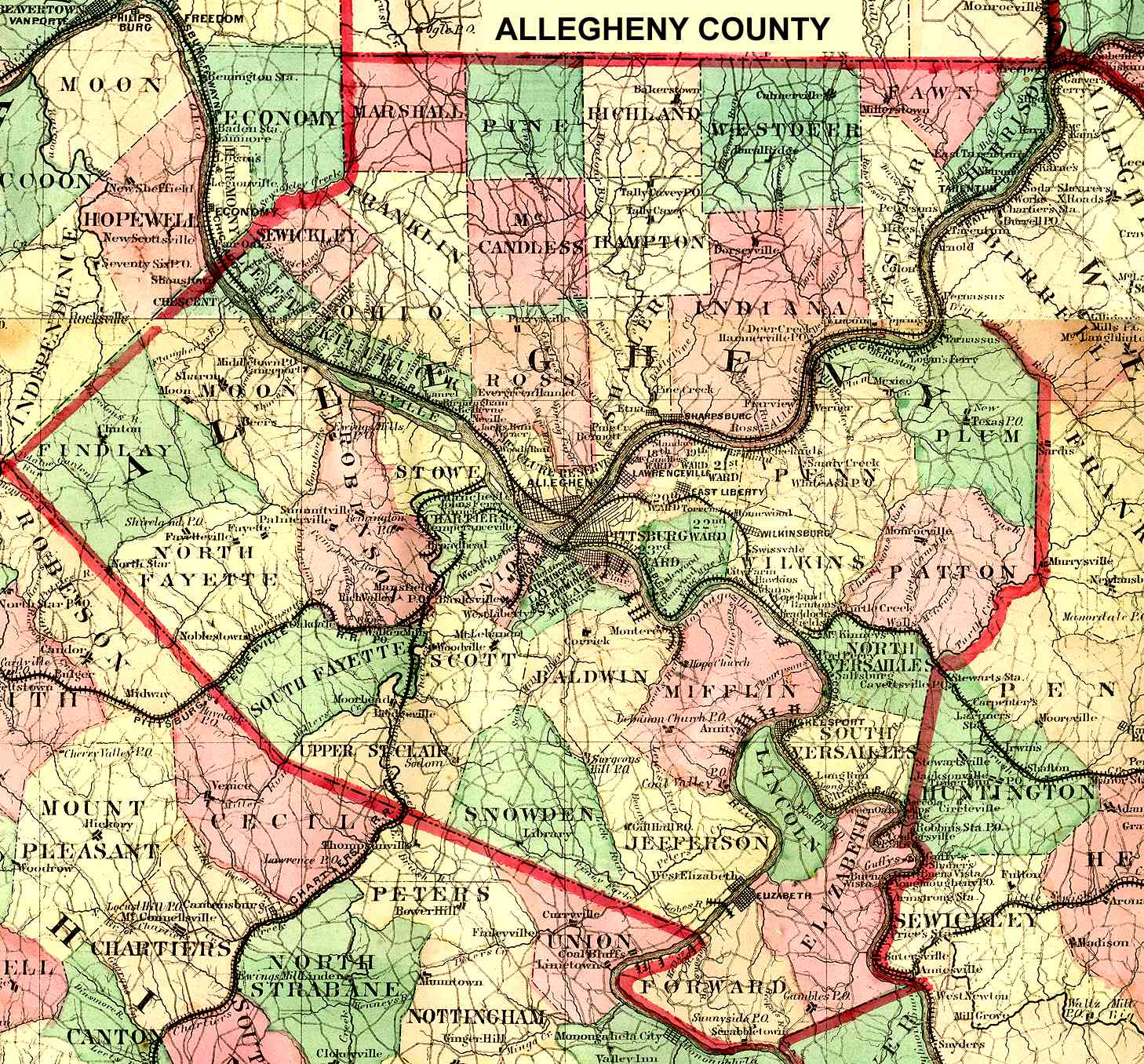 Pennsylvania County USGS Maps on