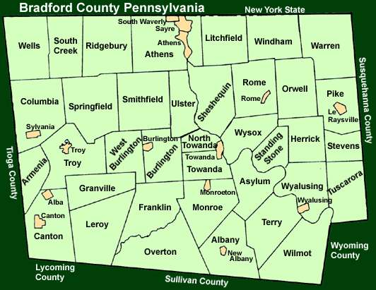 Bradford County Pennsylvania Township Maps