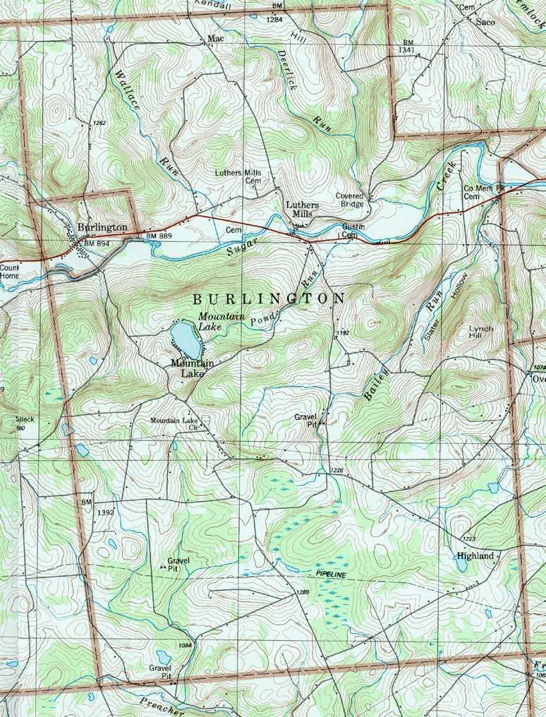 Bradford County Pennsylvania Township Maps