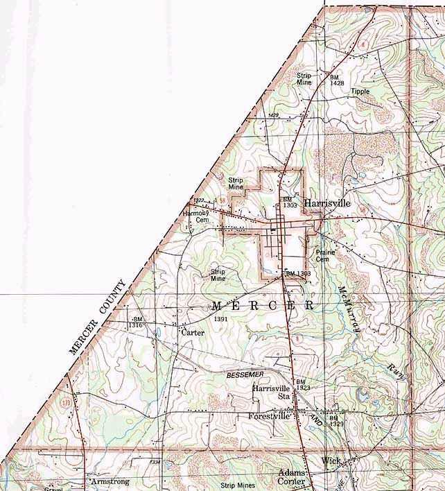 Butler County Township Map