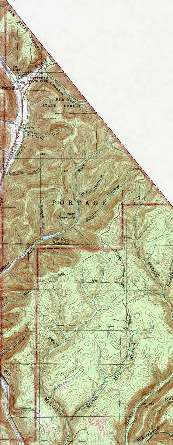 Prospect Park Pa >> Cameron County Pennsylvania Township Maps