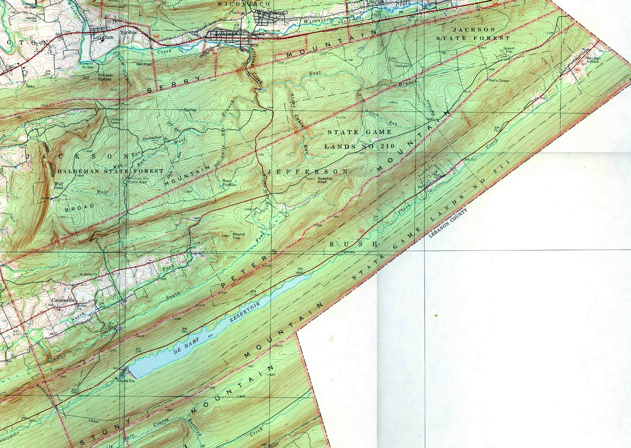 list of dauphin county township maps