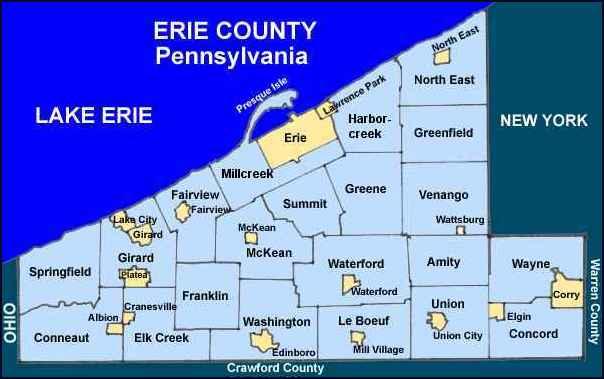 Erie County Pennsylvania Township Maps on