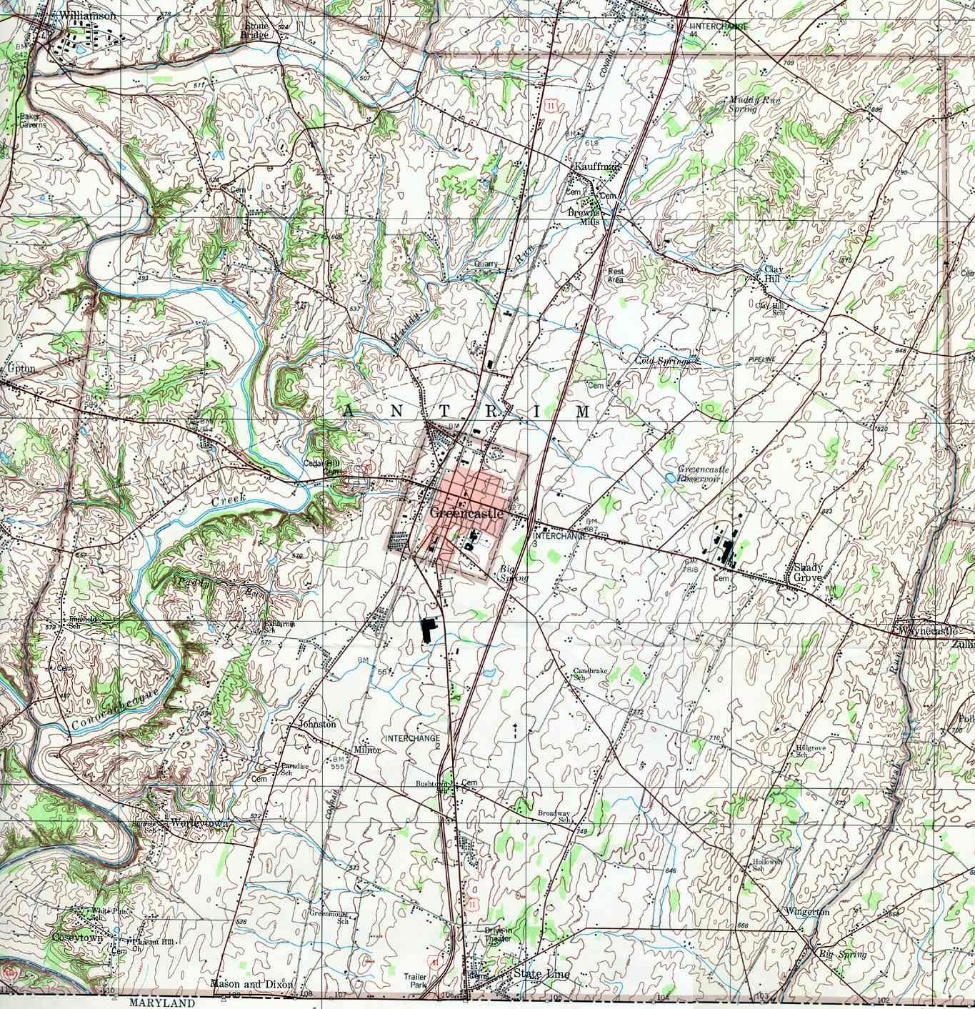 Franklin County Pennsylvania Township Maps - Pennsylvania printable map