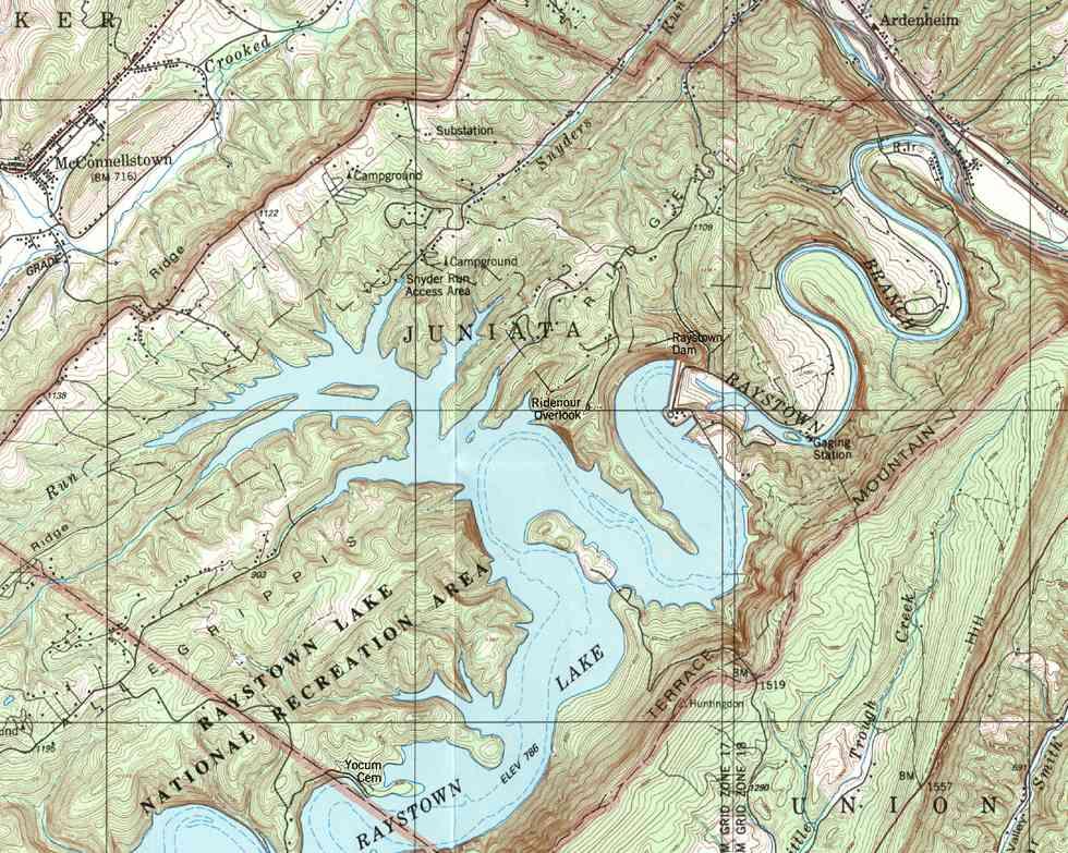 Huntingdon County Pennsylvania Township Maps