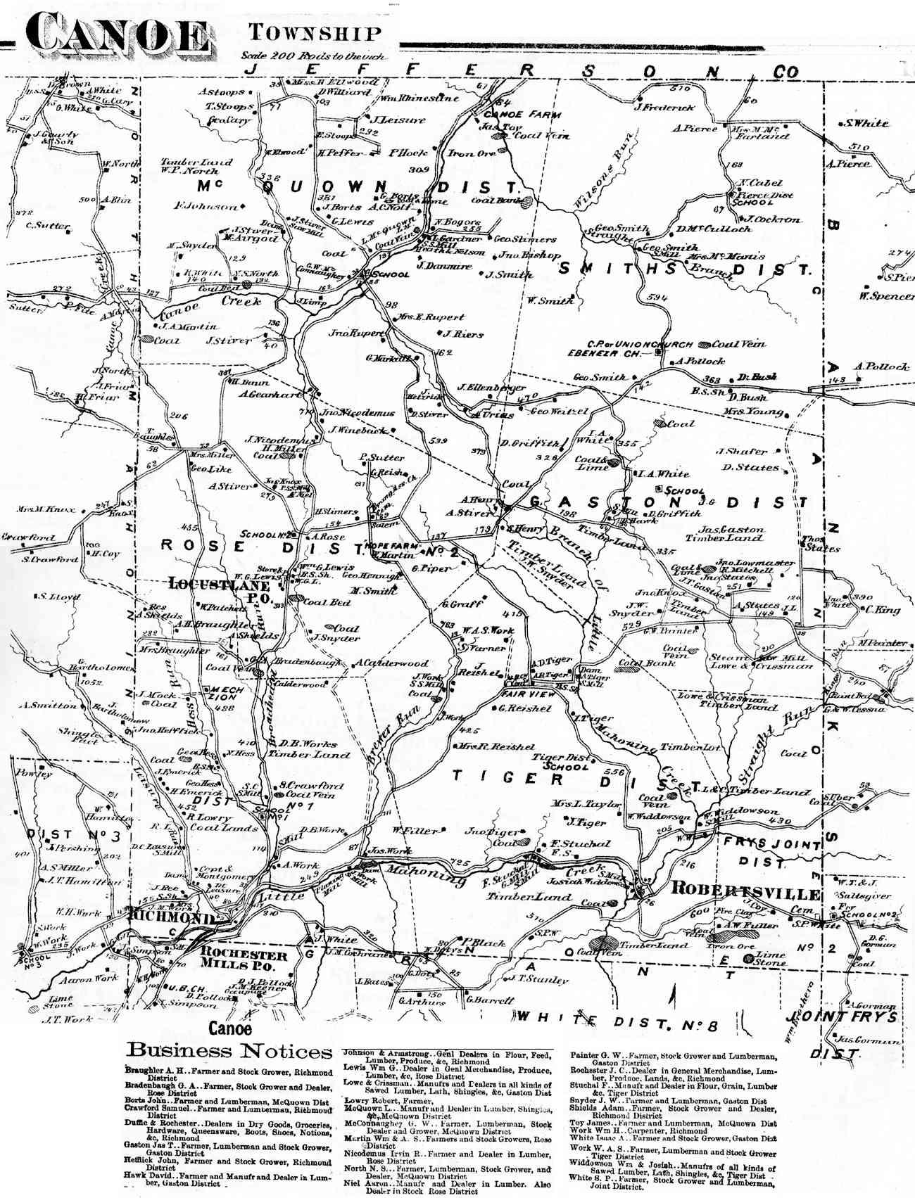 Indiana County Pennsylvania Atlas - Indiana county map