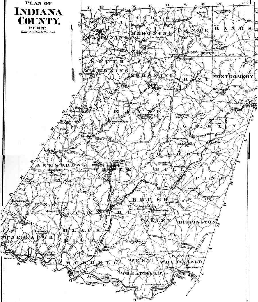 Indiana County Pennsylvania Atlas 1871