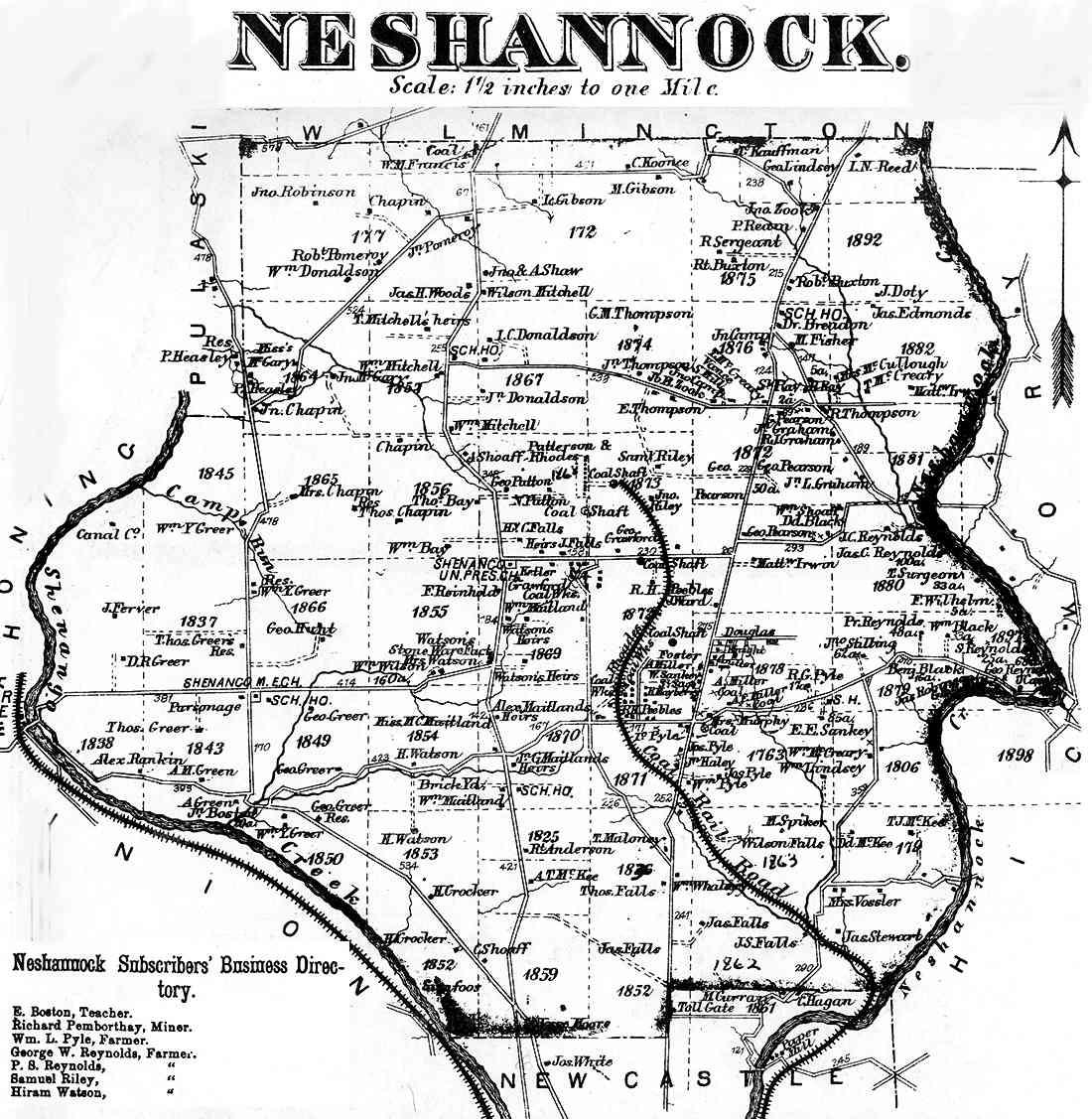 Lawrence County Pennsylvania Atlas 1872
