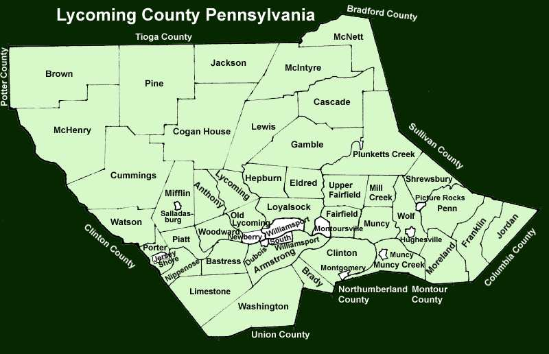 Lycoming County Townships
