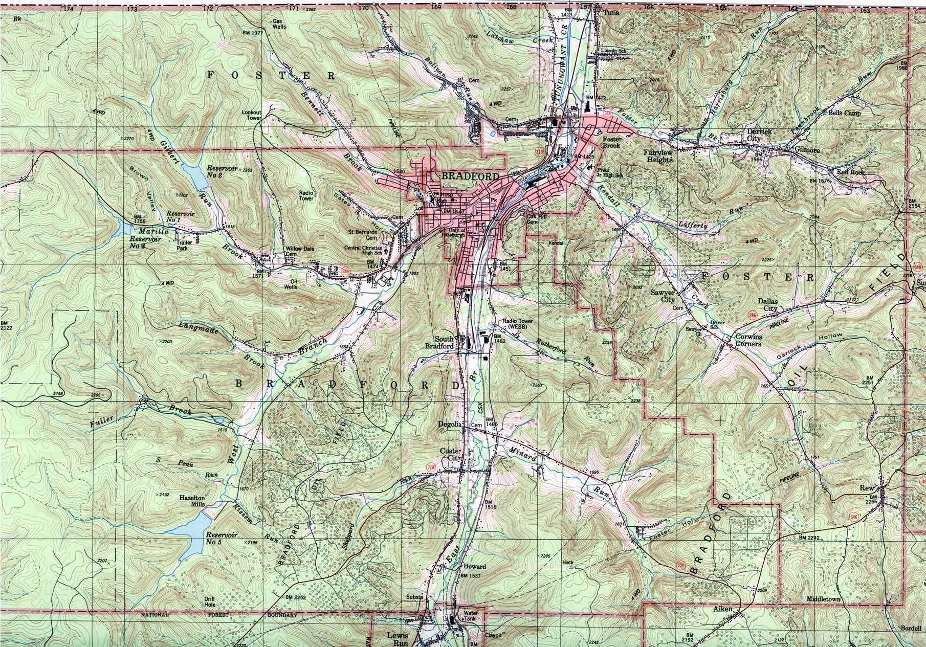 McKean County Pennsylvania Map
