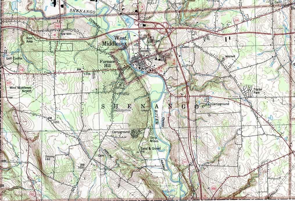 East Petersburg Pa >> Mercer County Pennsylvania Township Map