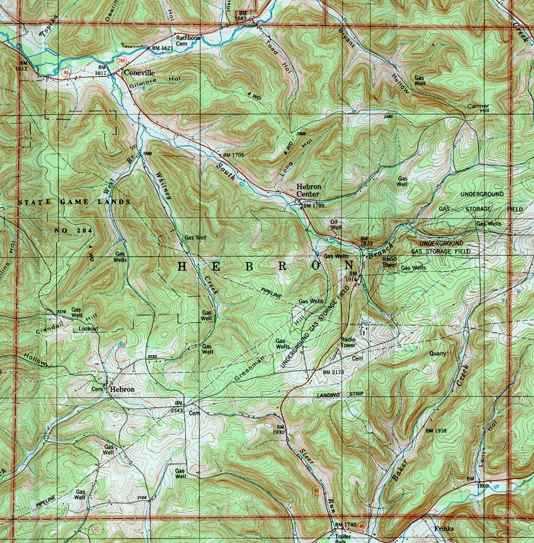 Potter County Pennsylvania Township Maps