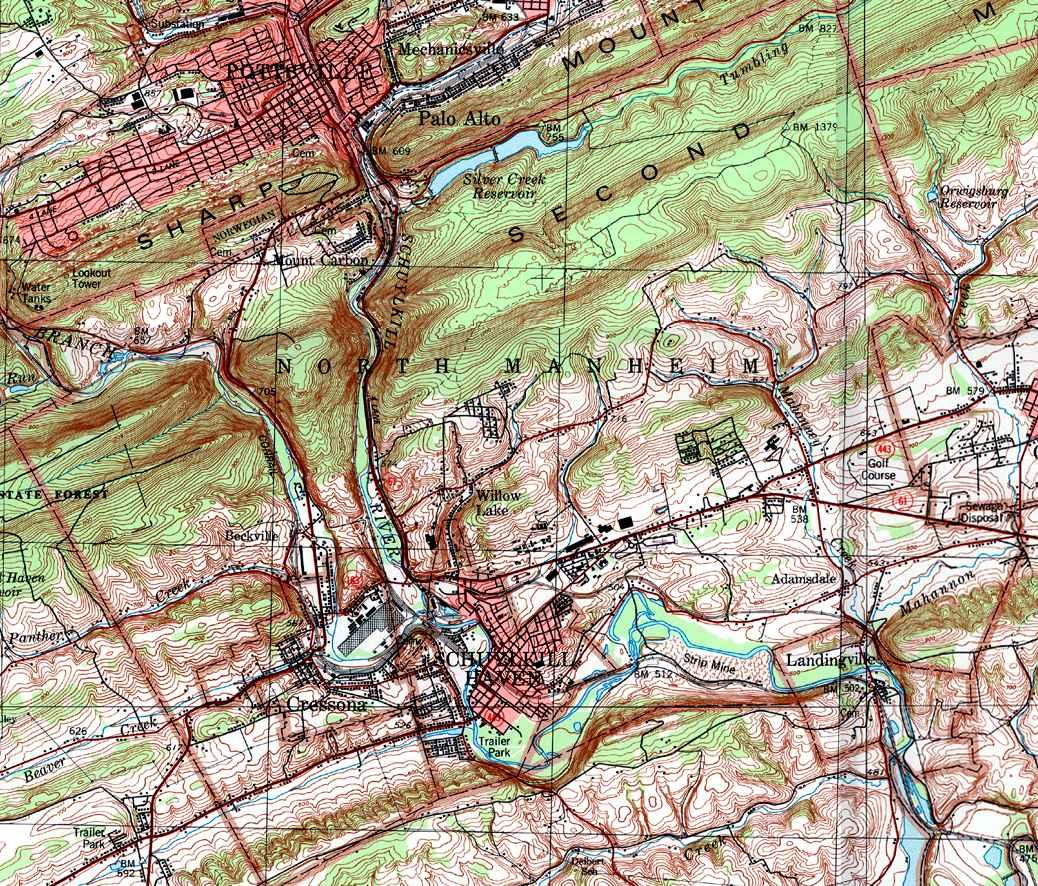 Schuylkill County Pennsylvania Township Maps