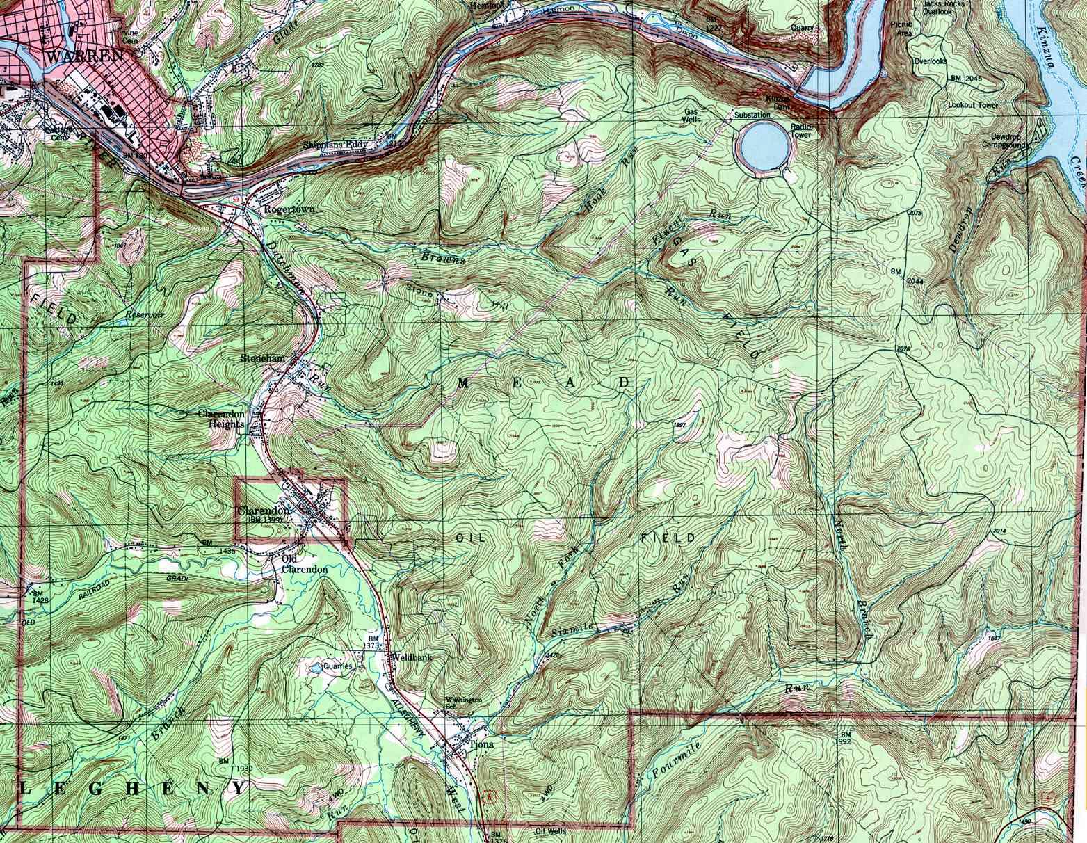 Warren County Pennsylvania Township Maps