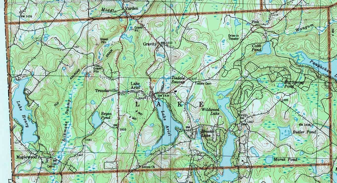 Wayne County Pennsylvania Township Maps