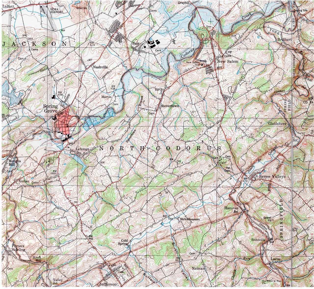 York County Pennsylvania Township Maps