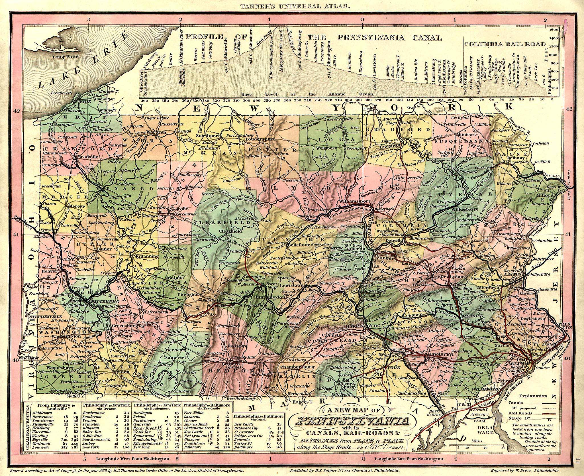 Pennsylvania Maps Pennsylvania Digital Map Library Table Of - Pa map