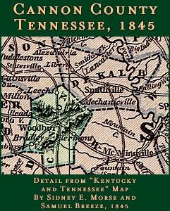1839 TN MAP DECATUR DeKALB DICKSON DYER FAYETTE COUNTY Tennessee History HUGE