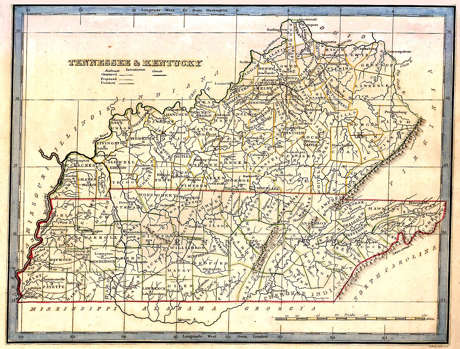 Tennessee Maps Tennessee Digital Map Library Table Of Contents - Tennessee waterways map