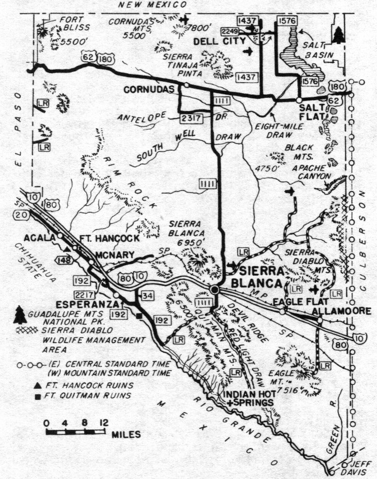 Hudspeth County TXGenWeb Hudspeth County Texas Genealogy Maps - Map of texas by county