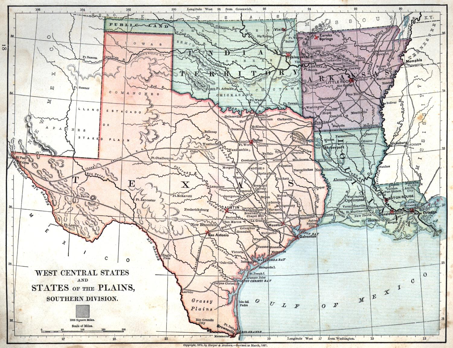Louisiana And Texas Map