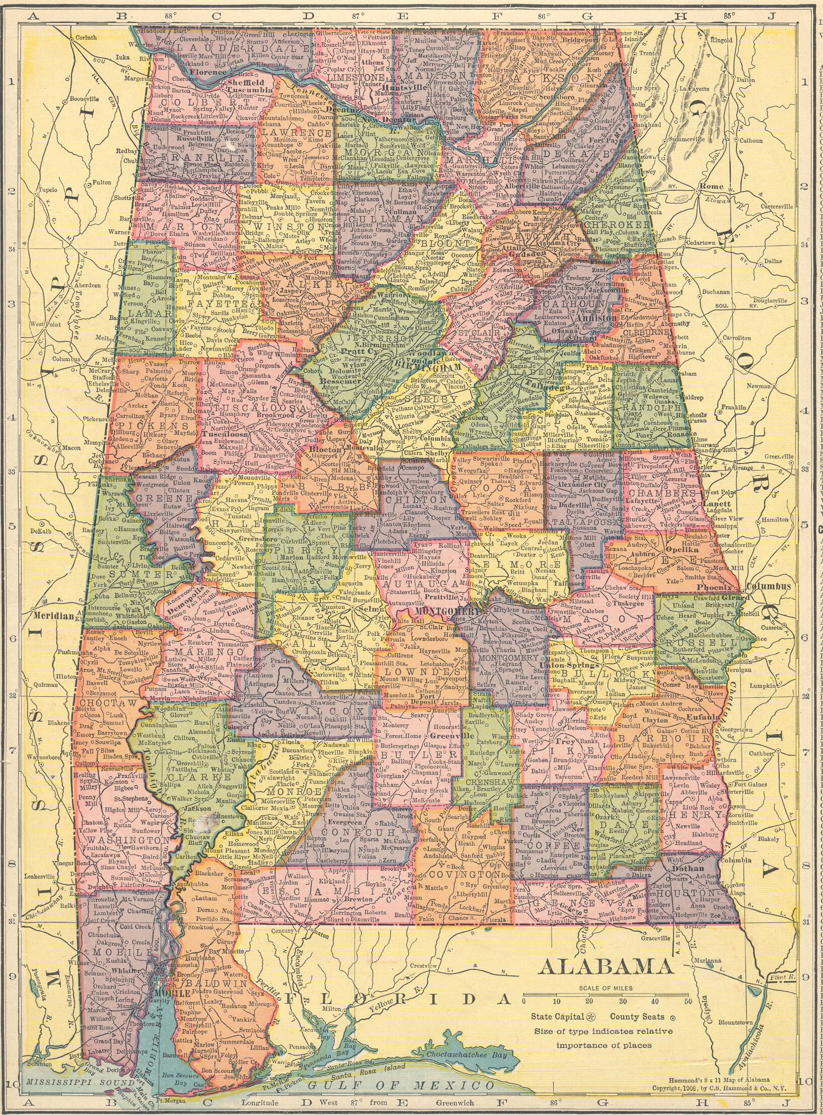 The USGenWeb Archives Digital Map Library  Hammonds 1910