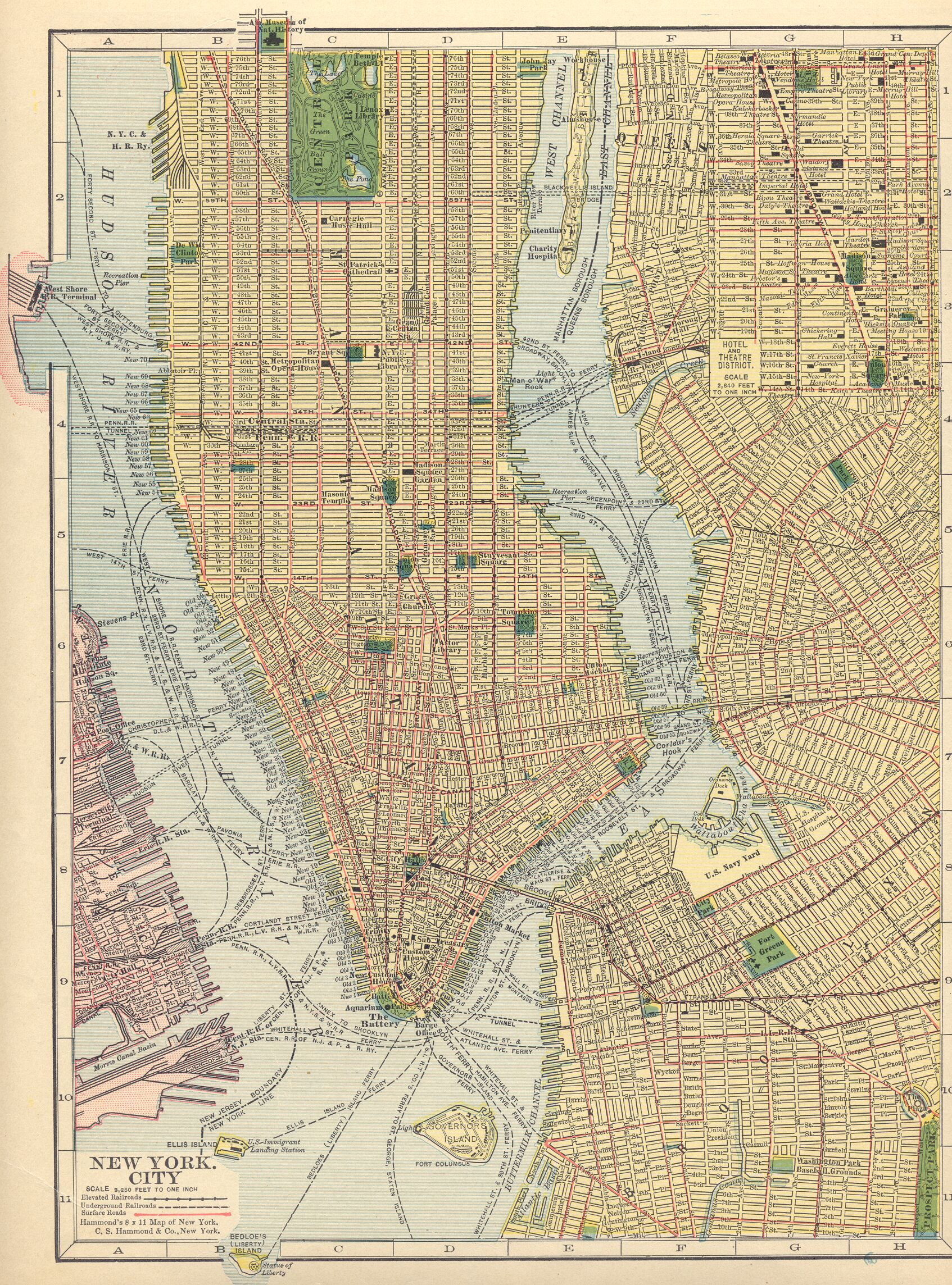 The USGenWeb Archives Digital Map Library Hammonds Atlas - New york city map 1950