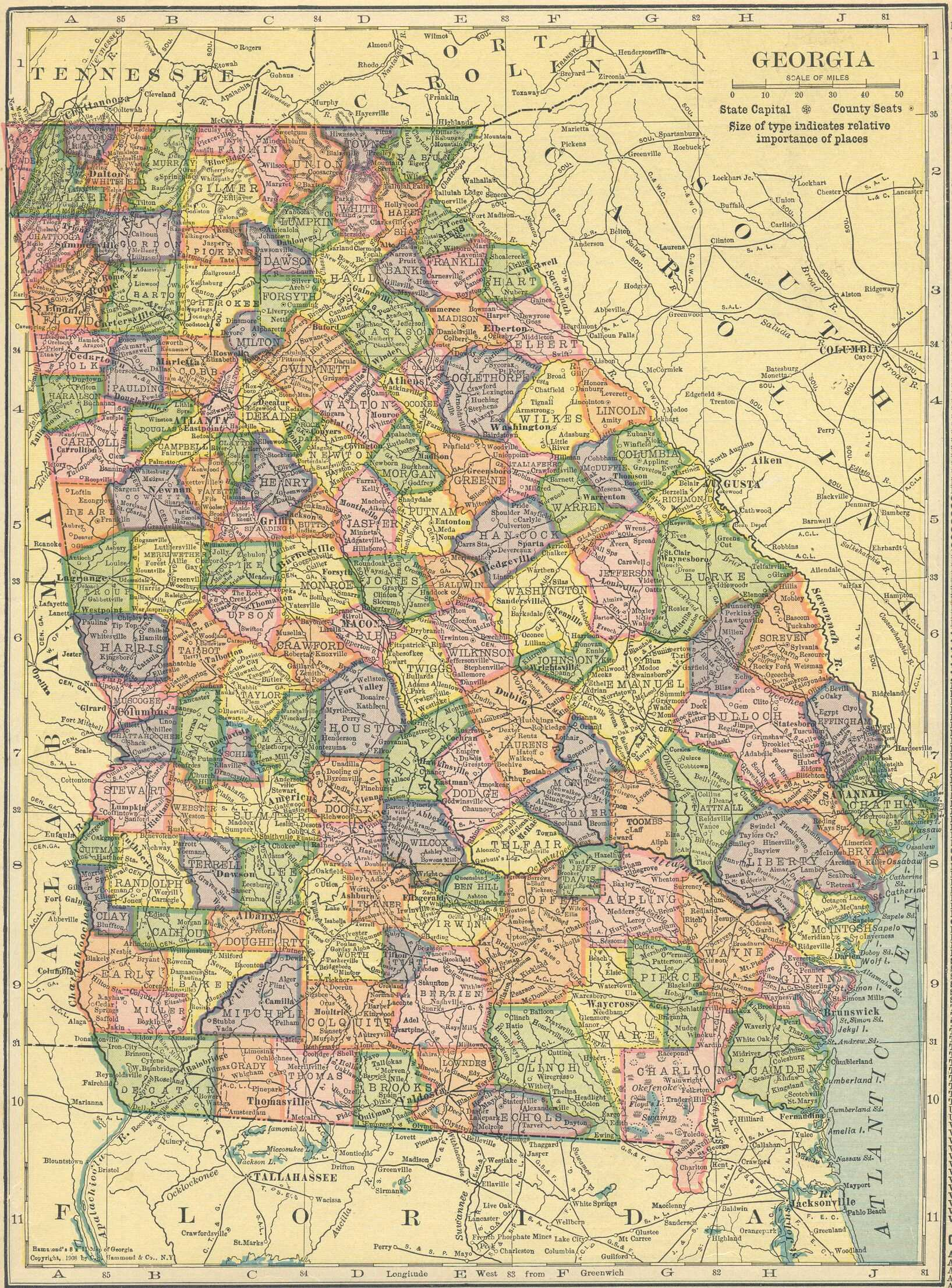 The USGenWeb Archives Digital Map Library Hammonds 1910 Atlas