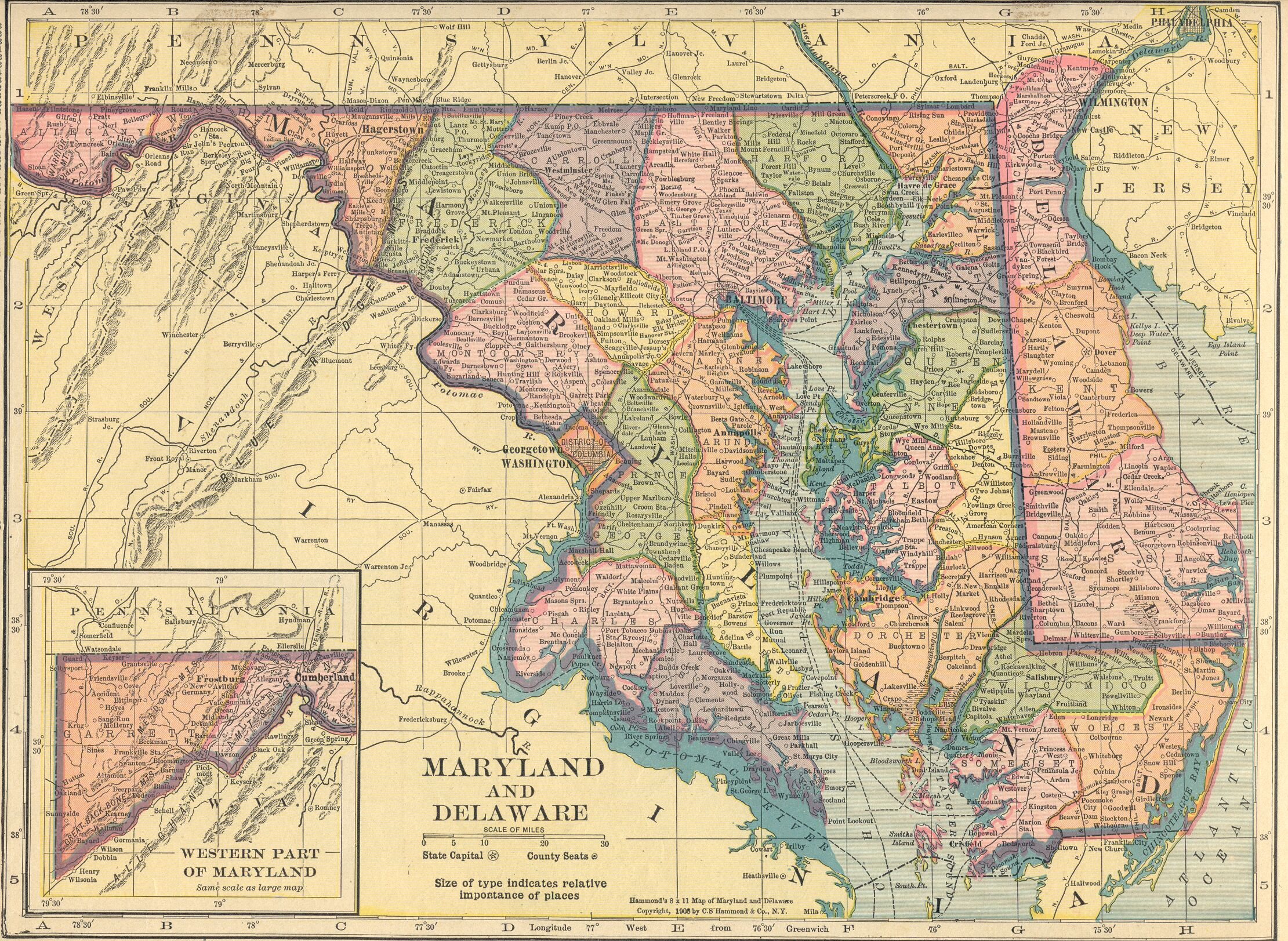 map of maryland and delaware – bnhspine.com