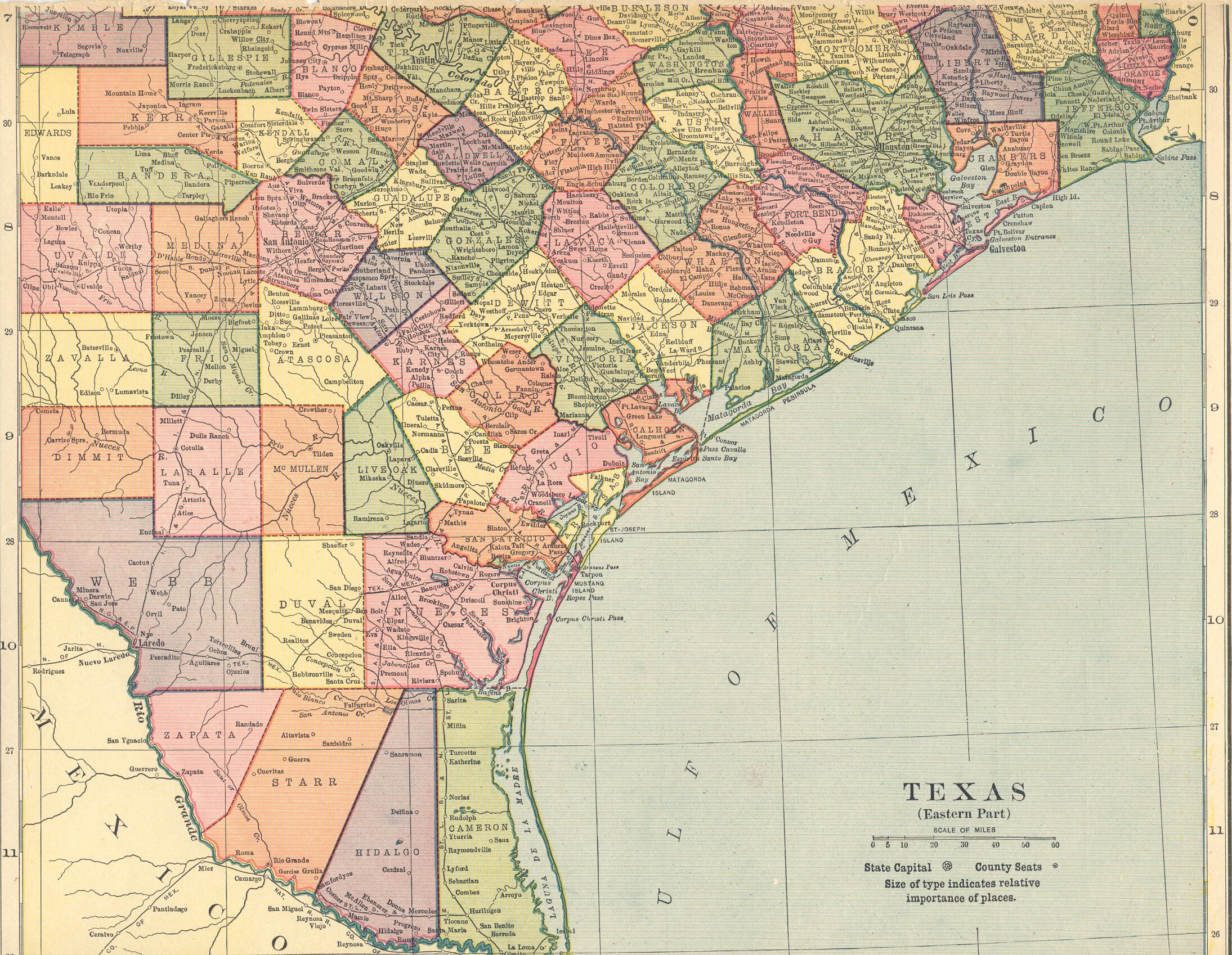 The USGenWeb Archives Digital Map Library Hammonds 1910 Atlas Texas