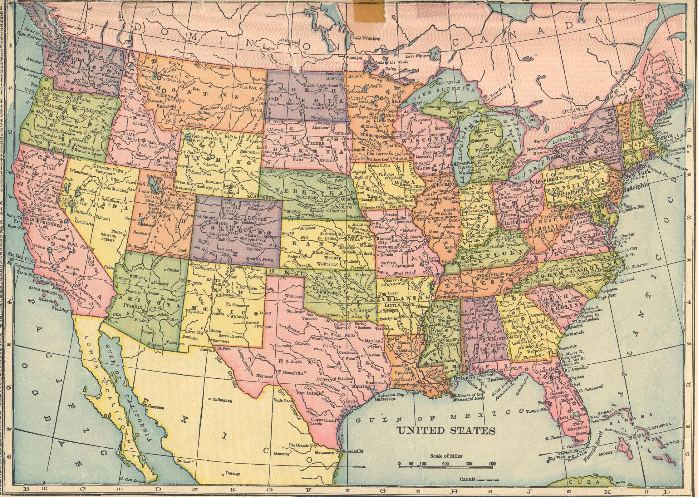The USGenWeb Archives Digital Map Library Hammonds 1910 Atlas - Us Digital Topographic Maps