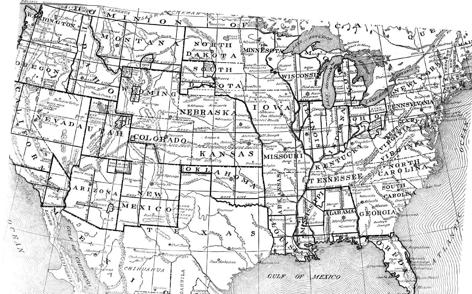United States Digital Map Library About - Latitude us map