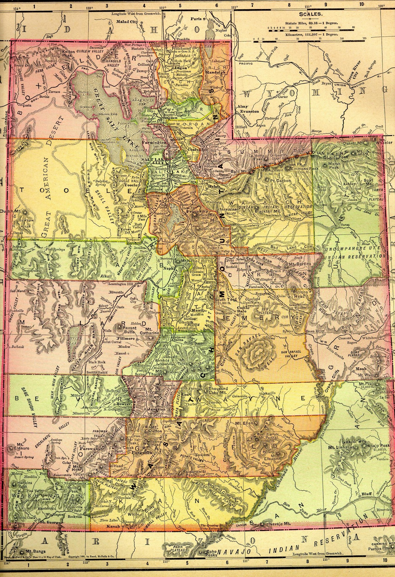 Utah Maps. Utah Digital Map Library. Table of Contents. United ...