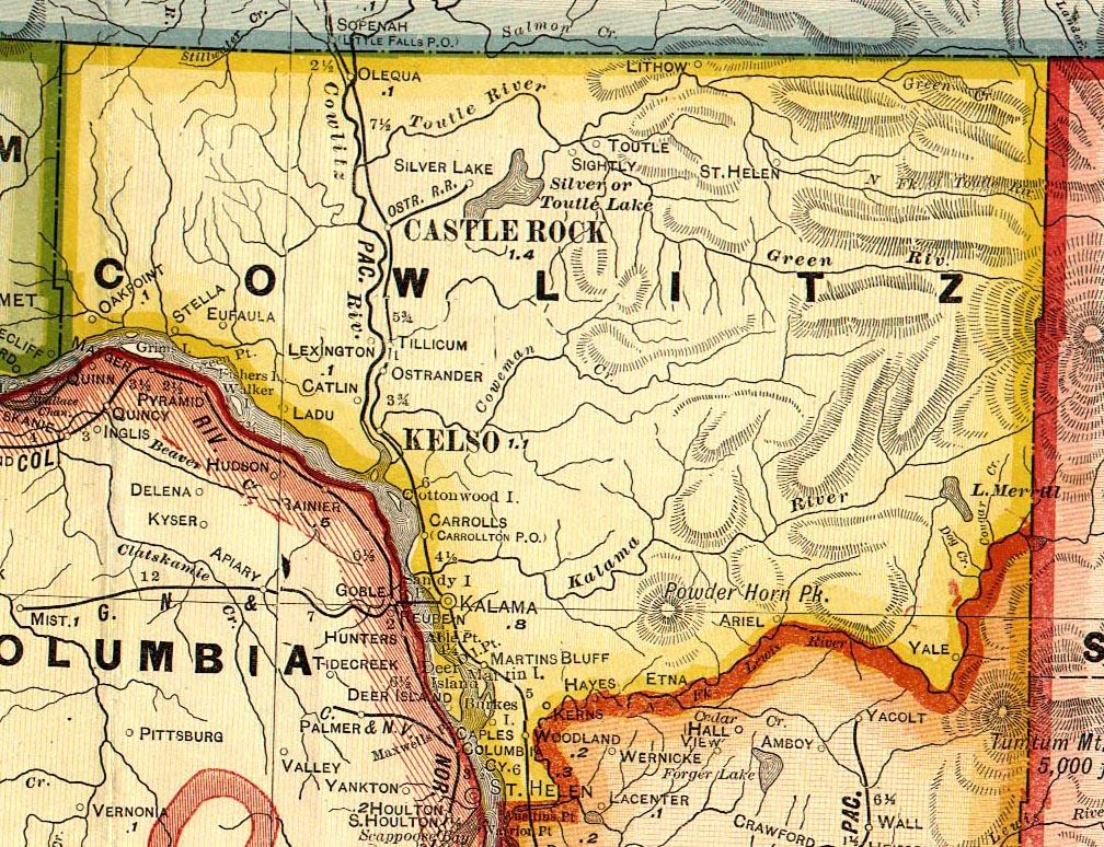 Cowlitz County Towns, A-L