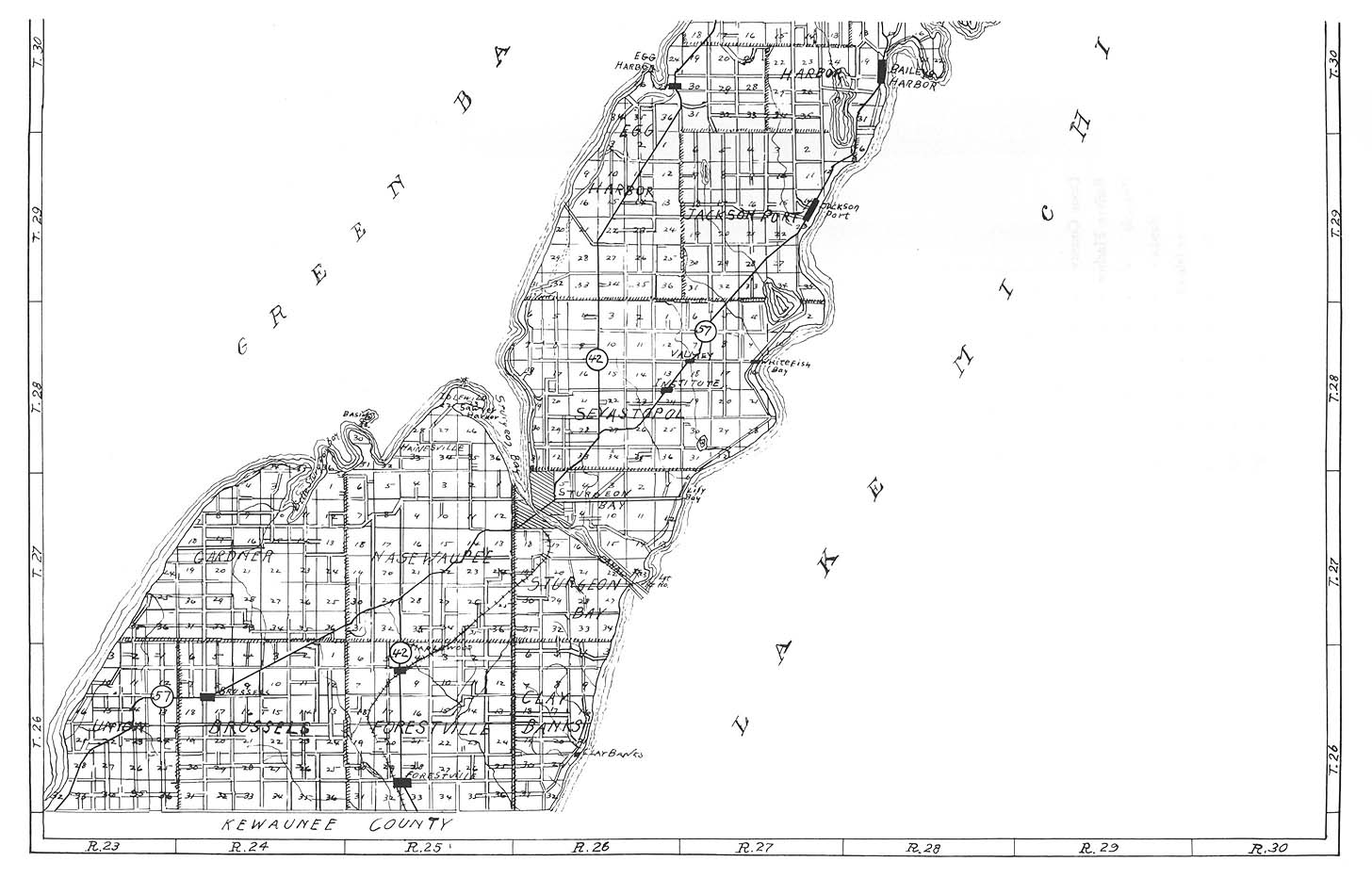 Door County - South  sc 1 st  USGenWeb Archives & Wisconsin Maps. Wisconsin Digital Map Library. Table of Contents ...