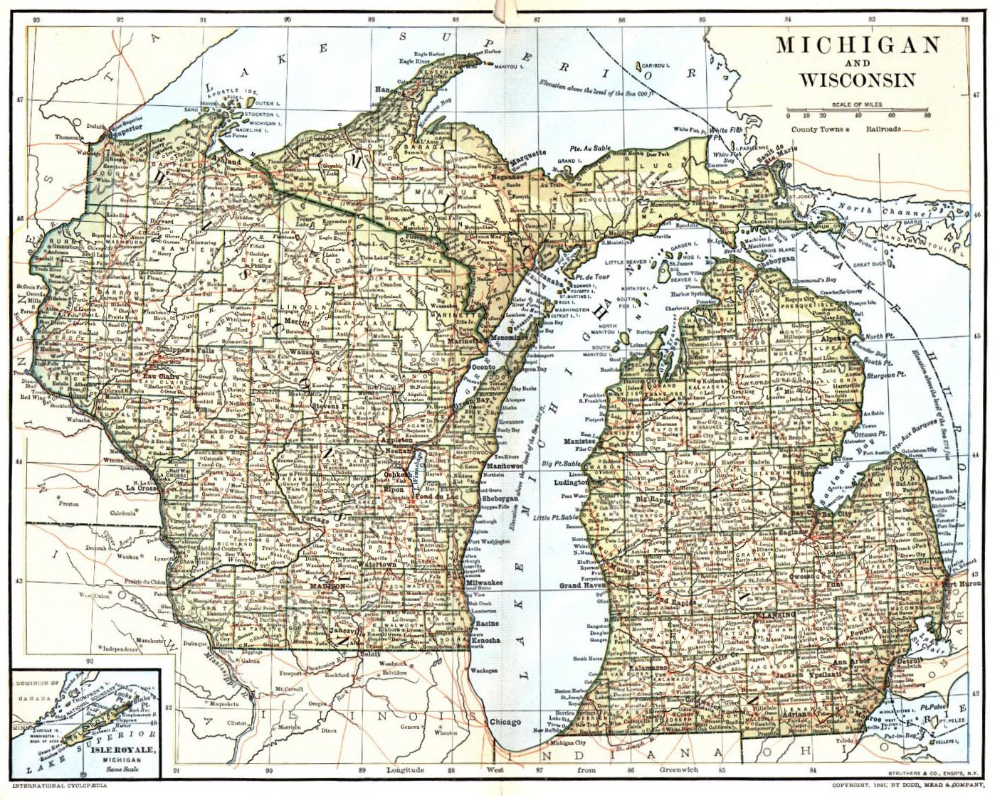 michigan and wisconsin . wisconsin maps wisconsin digital map library table of contents