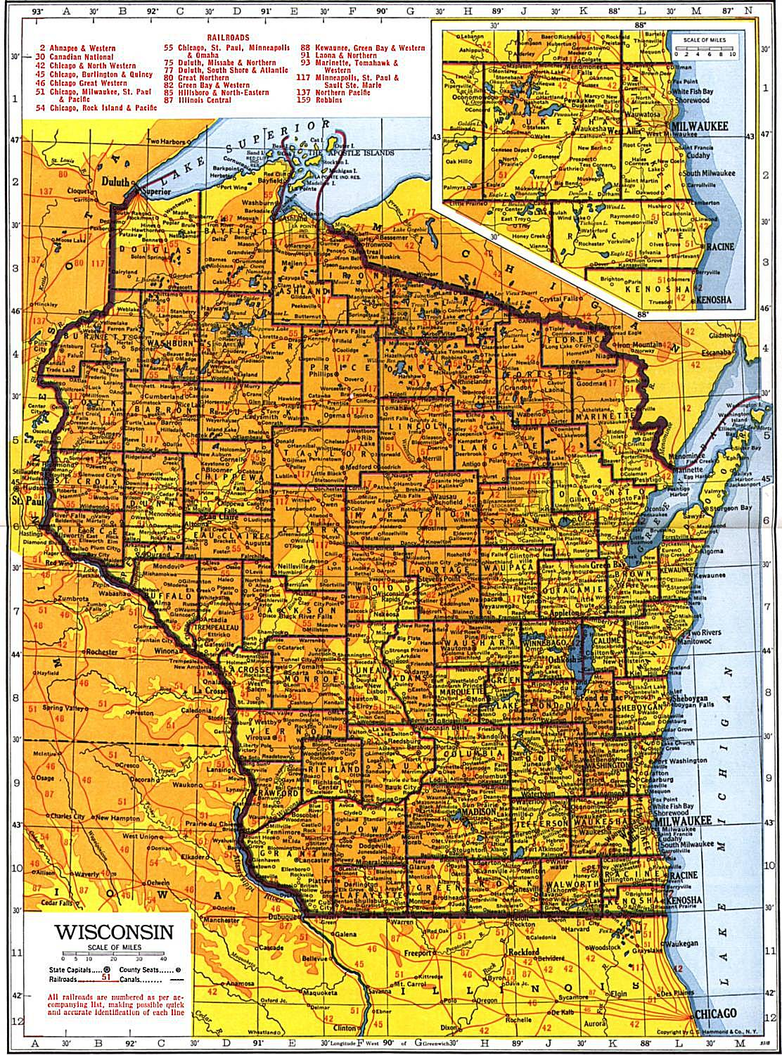 Wisconsin Maps Wisconsin Digital Map Library Table of Contents – Wisconsin Travel Map