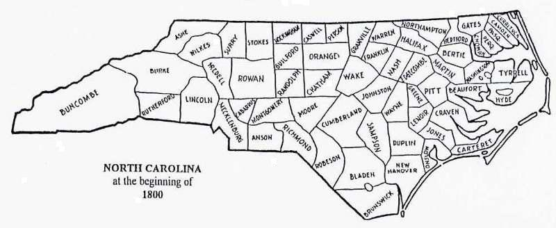 Maps - County map north carolina