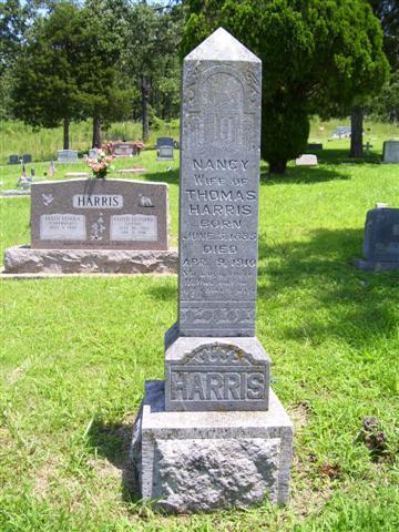 http://usgwarchives.net/ok/muskogee/cemeteries/tombstones/brusheymountcem/nancyharris1.jpg