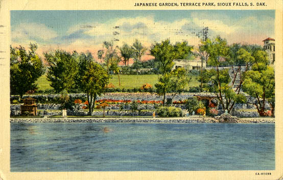Penny postcards from minnehaha county south dakota - Terrace park swimming pool sioux falls ...