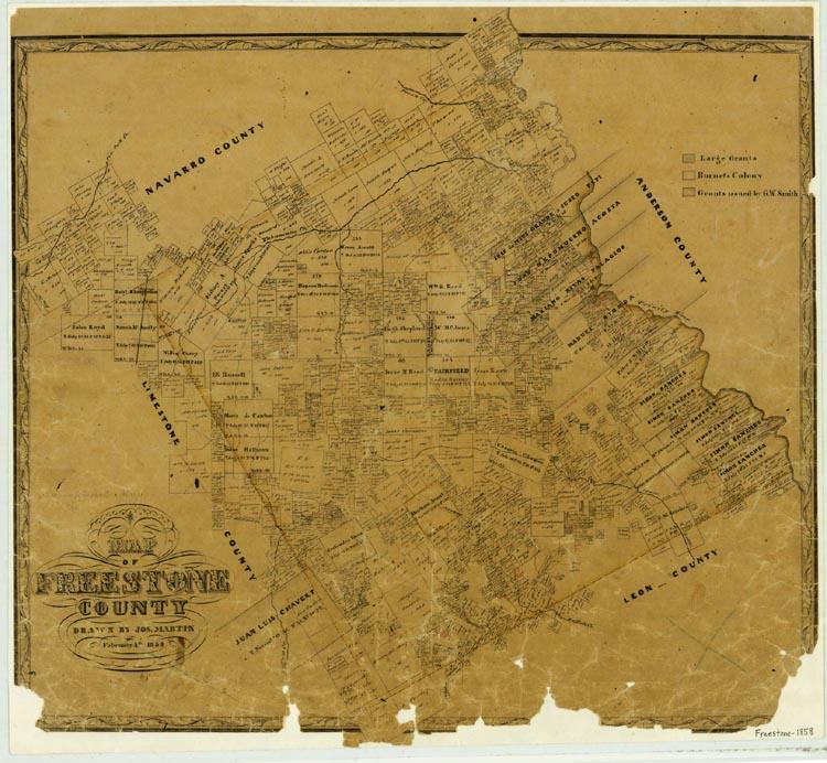 Freestone County Texas Old Maps - Map ot texas