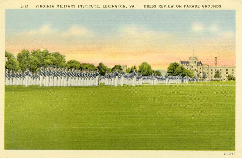 Virginia Military Institute Lexington Virginia Stonewall Jackson Statue Postcard